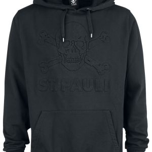 FC St. Pauli - 3D Logo - Hooded sweatshirt - black product image at Soundorabilia.com