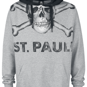 FC St. Pauli - Big - Hooded sweatshirt - mottled grey product image at Soundorabilia.com