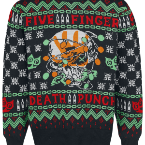Five Finger Death Punch - Holiday Sweater 2019 - Knit sweater - multicolour product image at Soundorabilia.com