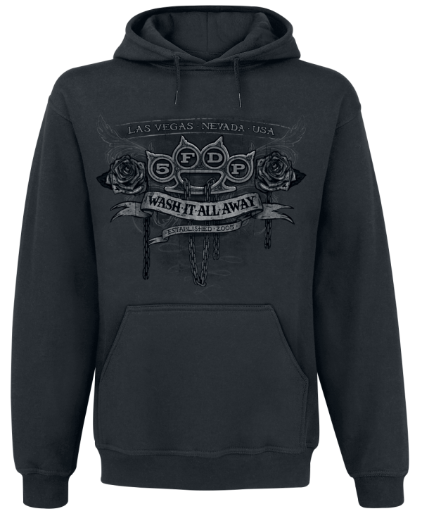 Five Finger Death Punch - Wash It All Away - Hooded sweatshirt - black product image at Soundorabilia.com
