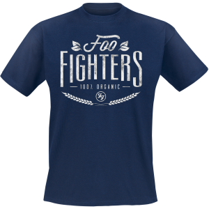 Foo Fighters - 100% Organic - T-Shirt - dark blue product image at Soundorabilia.com