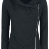 Forplay - Asymmetric Slub Yarn Zipper - Girls' cardigan - black product image at Soundorabilia.com