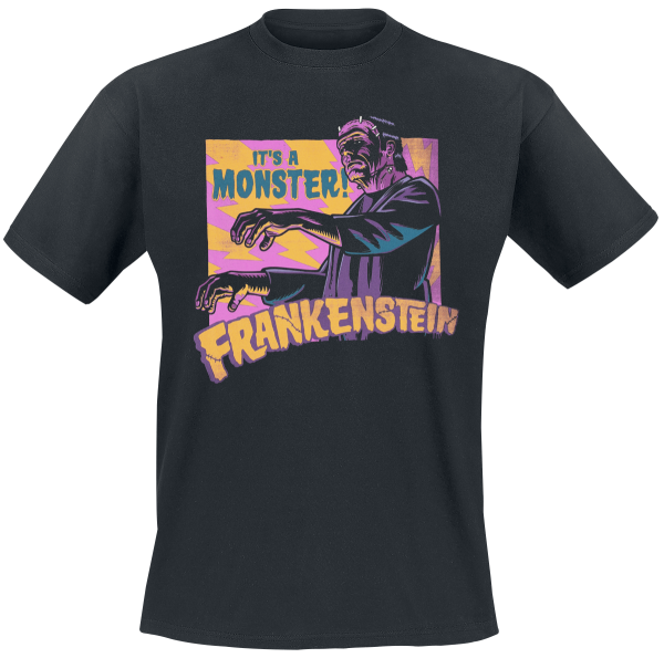 Frankenstein - It's A Monster! - T-Shirt - black product image at Soundorabilia.com