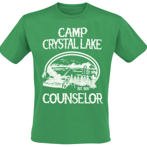 Friday the 13th - Camp Crystal Lake Counselor - T-Shirt - green product image at Soundorabilia.com