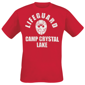 Friday the 13th - Camp Crystal Lake Lifeguard - T-Shirt - red product image at Soundorabilia.com