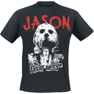 Friday the 13th - Jason Voorhees - Blood Splatter - T-Shirt - black product image at Soundorabilia.com
