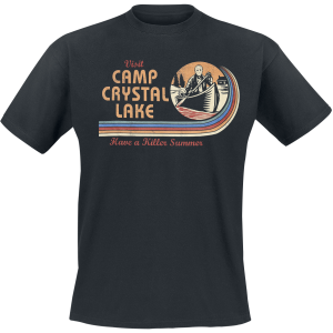 Friday the 13th - Visit Camp Crystal Lake - T-Shirt - black product image at Soundorabilia.com