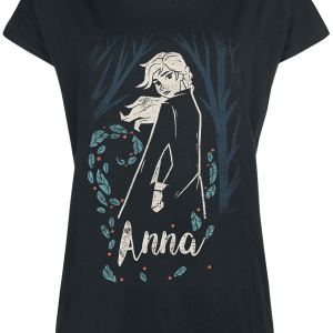 Frozen - Anna - In The Woods - Girls shirt - black product image at Soundorabilia.com