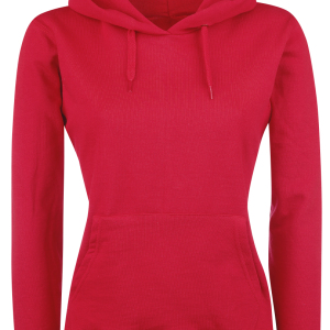 Fruit Of The Loom - Lady-Fit - Girls hooded sweatshirt - red product image at Soundorabilia.com