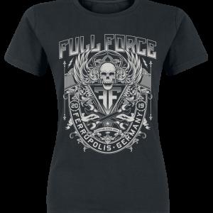 Full Force - Crest - Girls shirt - black product image at Soundorabilia.com