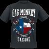 Gas Monkey Garage - Texas Flag - T-Shirt - black product image at Soundorabilia.com