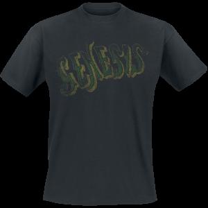 Genesis - Vintage Green Logo - T-Shirt - black product image at Soundorabilia.com