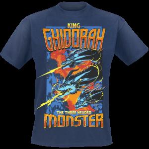 Godzilla - King Ghidorah - T-Shirt - dark blue product image at Soundorabilia.com