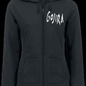 Gojira -  - Girls hooded zip - black product image at Soundorabilia.com