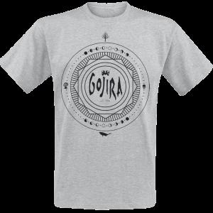 Gojira - Moon Phases - T-Shirt - mottled grey product image at Soundorabilia.com