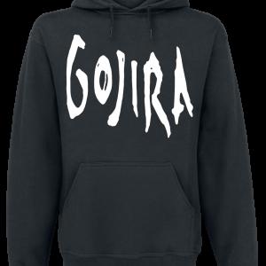 Gojira - Woodblock Whales - Hooded sweatshirt - black product image at Soundorabilia.com