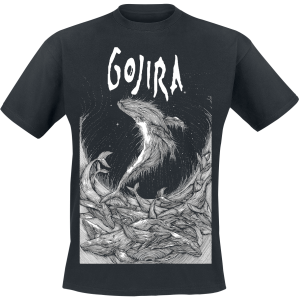 Gojira - Woodblock Whales - T-Shirt - black product image at Soundorabilia.com
