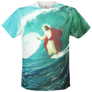Goodie Two Sleeves - Surfs Up Jesus - T-Shirt - white product image at Soundorabilia.com