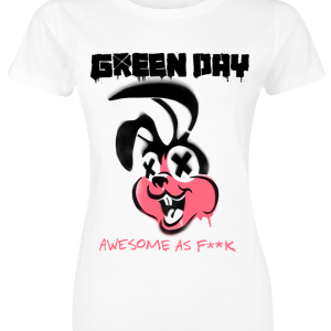 Green Day - Awesome AF - Girls shirt - white product image at Soundorabilia.com