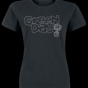 Green Day - Flowerpot Diamante - Girls shirt - black product image at Soundorabilia.com