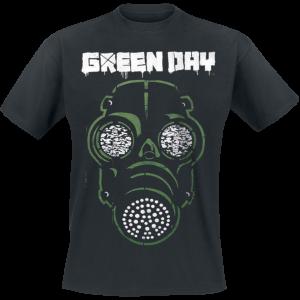 Green Day - Green Mask - T-Shirt - black product image at Soundorabilia.com