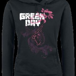 Green Day - Gun Flower - Girls hooded sweatshirt - black product image at Soundorabilia.com