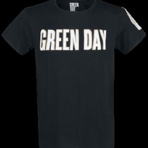 Green Day - Logo & Grenade - T-Shirt - black product image at Soundorabilia.com