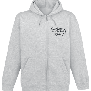 Green Day - Scary Bombs - Hooded zip - mottled grey product image at Soundorabilia.com