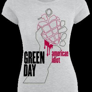 Green Day - Shadow Hand - Girls shirt - mottled grey product image at Soundorabilia.com