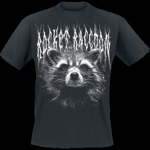 Guardians Of The Galaxy - 2 - Black Metal Rocket - T-Shirt - black product image at Soundorabilia.com