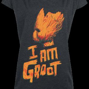 Guardians Of The Galaxy - I Am Groot - Girls shirt - mottled dark grey product image at Soundorabilia.com