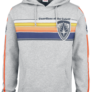 Guardians Of The Galaxy - Logo - Stripes - Hooded sweatshirt - mottled grey product image at Soundorabilia.com
