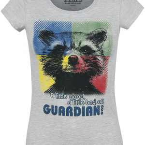 Guardians Of The Galaxy - Rocket - A Little Good - A Little Bad - Girls shirt - mottled grey product image at Soundorabilia.com