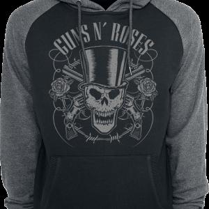 Guns N' Roses - Skull And Pistols - Hooded sweatshirt - black-grey product image at Soundorabilia.com