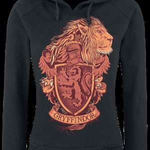 Harry Potter - Gryffindor - Girls hooded sweatshirt - black product image at Soundorabilia.com