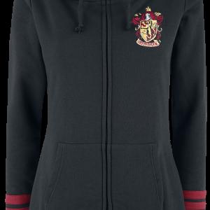 Harry Potter - Gryffindor - Girls hooded zip - black product image at Soundorabilia.com