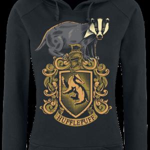 Harry Potter - Hufflepuff - Girls hooded sweatshirt - black product image at Soundorabilia.com
