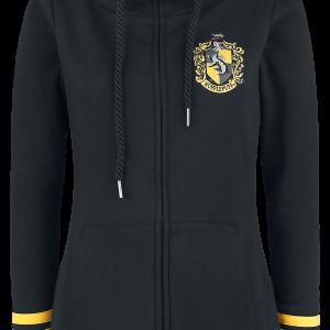 Harry Potter - Hufflepuff - Girls hooded zip - black product image at Soundorabilia.com