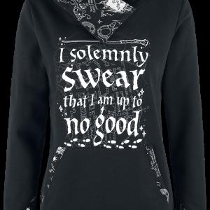 Harry Potter - I Solemnly Swear - Hooded sweatshirt - black product image at Soundorabilia.com