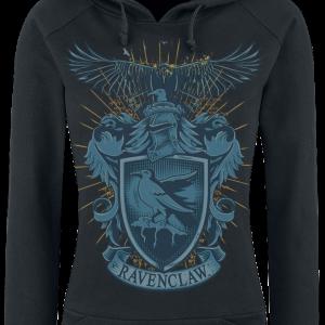 Harry Potter - Ravenclaw - Girls hooded sweatshirt - black product image at Soundorabilia.com