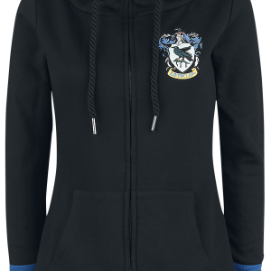 Harry Potter - Ravenclaw - Girls hooded zip - black product image at Soundorabilia.com