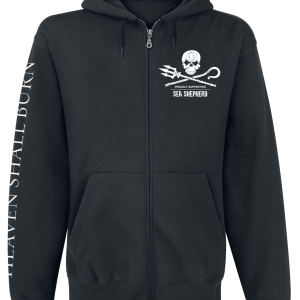 Heaven Shall Burn - Sea Shepherd Cooperation - For The Oceans - Hooded zip - black product image at Soundorabilia.com