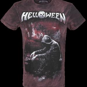 Helloween - Keeper Falls - T-Shirt - bordeaux-grey product image at Soundorabilia.com