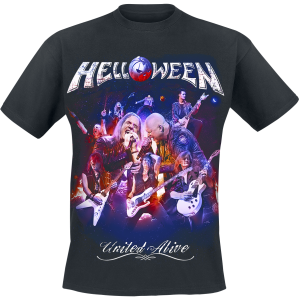 Helloween - United Alive - Cover - T-Shirt - black product image at Soundorabilia.com
