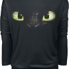 How to Train Your Dragon - Toothless - Girls longsleeve - black product image at Soundorabilia.com
