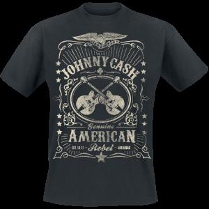 Johnny Cash - American Rebel - T-Shirt - black product image at Soundorabilia.com