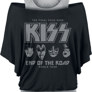 Kiss - End Of The Road Faces - Girls shirt - black-grey product image at Soundorabilia.com
