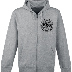 Kiss - The Last Tour Ever - Hooded zip - mottled grey product image at Soundorabilia.com
