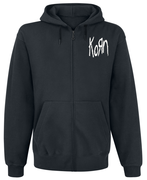 Korn - Mirror Cover - Hooded zip - black product image at Soundorabilia.com