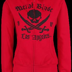 Metal Blade - Pirate Logo - Girls hooded zip - red product image at Soundorabilia.com